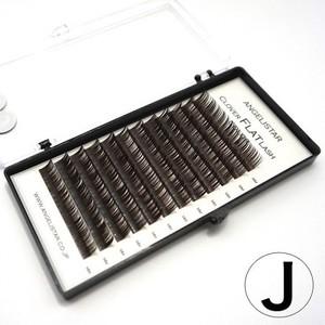 クローバーフラットラッシュ Dark Brown Jカール | 0.15mm