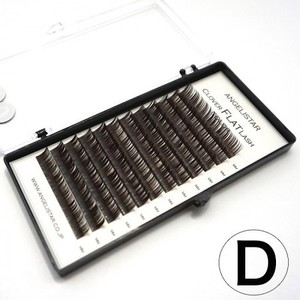 クローバーフラットラッシュ Dark Brown Dカール | 0.15mm